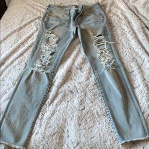 American Eagle Light Wash 360 Super Stretch Jeans
